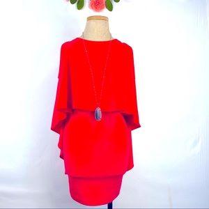 Karlie Salmon slimming sleeveless cape style dress